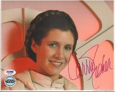 "CARRIE FISHER Signed STAR WARS ""Princess Leia"" 8x10 Photo PSA/DNA #X80630"