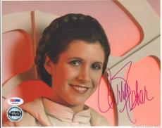 """CARRIE FISHER Signed STAR WARS """"Princess Leia"""" 8x10 Photo PSA/DNA #X80631"""