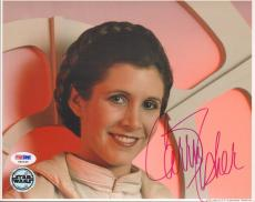 "CARRIE FISHER Signed STAR WARS ""Princess Leia"" 8x10 Photo PSA/DNA #X80636"