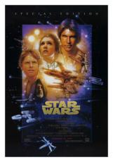 Carrie Fisher Signed Star Wars Special Edition Poster. Princess Leia. PSA