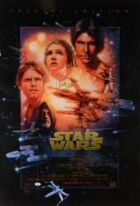 Carrie Fisher Star Wars Autographed Movie Poster - PSA