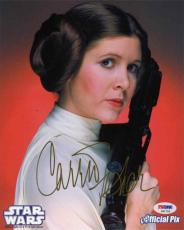 Carrie Fisher Star Wars Autographed Signed 8x10 Photo Certified PSA/DNA COA
