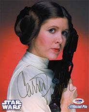 Carrie Fisher Star Wars Autographed Signed 8x10 Photo PSA/DNA COA