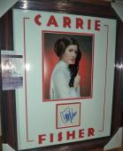 Carrie Fisher Star Wars Legend Autograph Signed Double Matted & Framed Jsa Coa C
