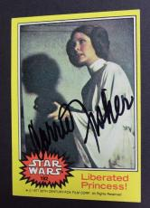 Carrie Fisher STAR WARS Princess Leia 1977 Autograph Card #192 Signed 16D