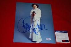CARRIE FISHER  star wars princess leia signed psa/dna 8x10 photo