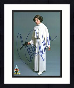 Carrie Fisher Star Wars Signed 8x10 Photo Star Wars Celebration IV BAS #A57333