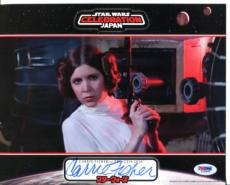 CARRIE FISHER STAR WARS SIGNED AUTOGRAPHED 8x10 PHOTO PSA/DNA #L79494
