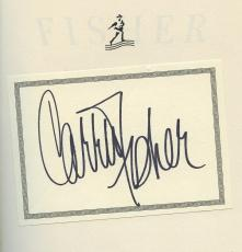 Carrie Fisher Star Wars Signed Autographed Book Shockaholic Authentic Signature!