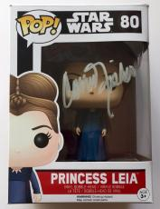 Carrie Fisher Star Wars The Force Awakens Princess Leia Signed Funko POP W/ COA