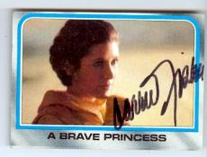 Carrie Fisher trading card with signature (Star Wars Princess Leia) 1980 Topps Empire Strikes Back #192