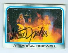 Carrie Fisher trading card with signature (Star Wars Princess Leia) 1980 Topps Empire Strikes Back #201 I Know