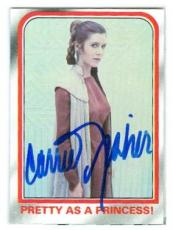 Carrie Fisher trading card with signature (Star Wars Princess Leia) 1980 Topps Empire Strikes Back #81
