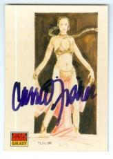 Carrie Fisher trading card with signature (Star Wars Princess Leia) 1993 Topps Galaxy #41