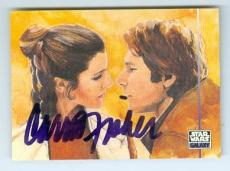 Carrie Fisher trading card with signature (Star Wars Princess Leia) 1995 Topps Galaxy #337
