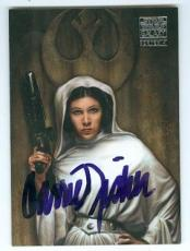 Carrie Fisher trading card with signature (Star Wars Princess Leia) 2008 Topps Galaxy #3