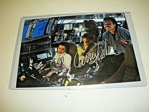 Carrie Fisher,mark Hamill, Billy Dee Williams Star Wars W/coa Signed Photo