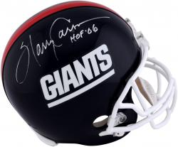 Harry Carson New York Giants Autographed Riddell Replica Helmet with HOF 06 Inscription - Mounted Memories