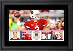 "Carson Palmer Arizona Cardinals Framed 10"" x 18""  Panoramic with Piece of Game-Used Football - Limited Edition of 250"