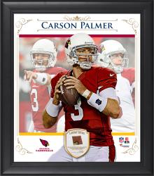"Carson Palmer Arizona Cardinals Framed 15"" x 17"" Composite Collage with Piece of Game-Used Football"
