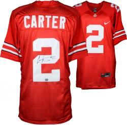 Cris Carter Ohio State Buckeyes Autographed Nike Red Jersey