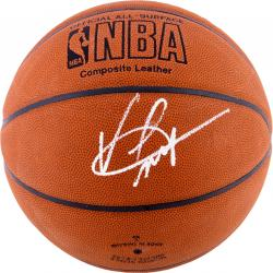 Vince Carter Dallas Mavericks Autographed Spalding Indoor/Outdoor Basketball - Mounted Memories