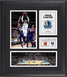 Vince Carter Dallas Mavericks Framed 15'' x 17'' Collage with Team-Used Ball - Mounted Memories