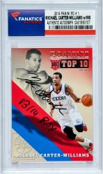 Michael Carter-Williams Philadelphia 76ers Autographed 2014 Panini #1 Rookie Card with 13/14 ROY Inscription
