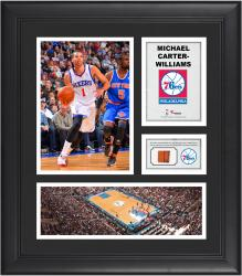 """Michael Carter-Williams Philadelphia 76ers Framed 15"""" x 17"""" Collage with Team-Used Ball"""