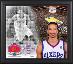"""Michael Carter-Williams Philadelphia 76ers Framed 15"""" x 17"""" Mosaic Collage with Team-Used Basketball-Limited Edition of 99"""