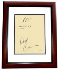 Case 39 Autographed Script by Bradley Cooper, Renee Zellweger, and Callum Keith Rennie MAHOGANY CUSTOM FRAME
