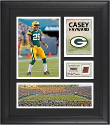 Casey Hayward Green Bay Packers Framed 15'' x 17'' Collage with Game-Used Football