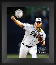 "Andrew Cashner San Diego Padres Framed 20"" x 24"" Gamebreaker Photograph with Game-Used Ball"