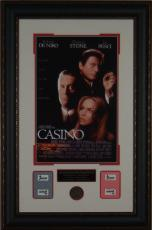 CASINO Movie Used Chip Framed Poster Display