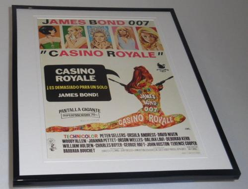 Casino Royale Spanish Framed 11x14 Repro Poster Display Ursula Andress