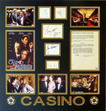Casino Signed (6) Matted Display Deniro/Pesci/Stone/Rickles/Woods/King PSA/DNA