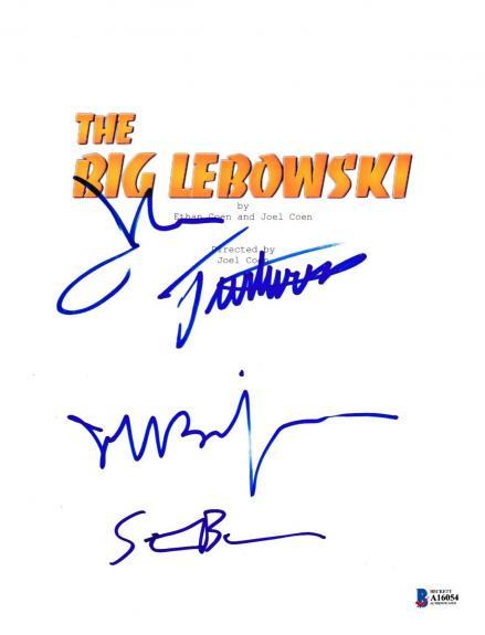 Cast Signed Big Lebowski Script Beckett Bas Autograph Auto Coa Jeff Bridges