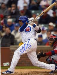 "Starlin Castro Chicago Cubs Autographed 8"" x 10"" Hit Photograph"