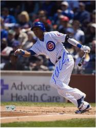 "Starlin Castro Chicago Cubs Autographed 8"" x 10"" Run Photograph"