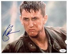 CASUALTIES OF WAR signed SEAN PENN tough autograph JSA