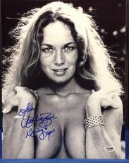 "Catherine Bach Signed 11x14 Dukes of Hazzard Photo ""Daisy"" PSA Cert# AA62315"