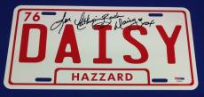 Catherine Bach Signed Dukes of Hazzard  License Plate PSA/DNA Cert# #AA69035