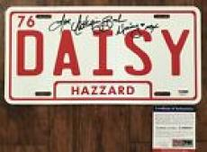 Catherine Bach Signed METAL License Plate Dukes of Hazzard PSA/DNA COA