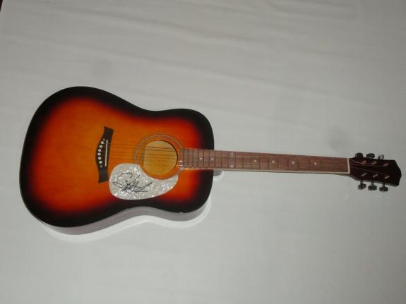 Caylee Hammack Signed Full-size Sunburst Acoustic Guitar Country Star Psa Coa