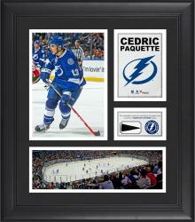 """Cedric Paquette Tampa Bay Lightning Framed 15"""" x 17"""" Collage with Piece of Game-Used Puck"""