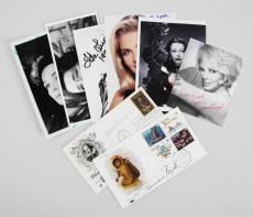 Celebrity Signed Photos & FDC Cachets (8) Hedy Lamarr, Janet Leigh, Helen Mirren etc. – JSA