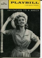 Celeste Holm Jane Fonda James MacArthur Invitation To A March Nov 1960  Playbill