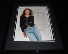 Celine Dion 1991 Framed 11x14 Photo Display