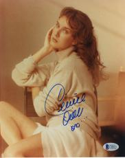 "Celine Dion Autographed 8"" x 10"" Sitting With Hand on Head Pose Photograph - BAS COA"
