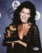 "Celine Dion Autographed 8""x 10"" Holding Grammy Award Photograph - Beckett COA"